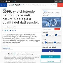 Dati Personali (o sensibili): quali sono e come trattarli (GDPR 2020)