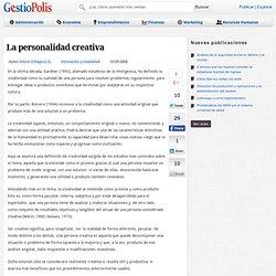 La personalidad creativa