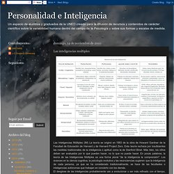 Personalidad e Inteligencia: Las inteligencias multiples