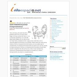 TEST PERSONALIDAD (temperamentos) - Bienvenidos a infoespacio.net