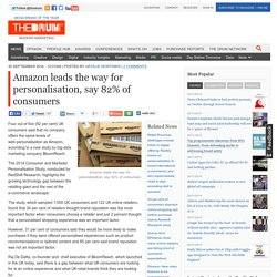 Amazon leads the way for personalisation, say 82% of consumers