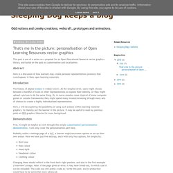 Sleeping Dog keeps a blog: That's me in the picture: personalisation of Open Learning Resources vector graphics