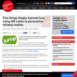 Five things Diageo learned from using QR codes to personalise whiskey bottles