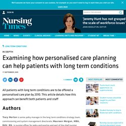 Examining how personalised care planning can help patients with long term conditions