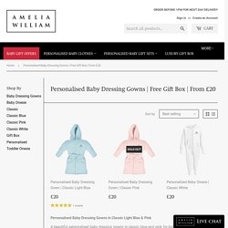Personalised Baby Dressing Gowns