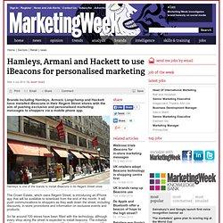 Hamleys, Armani and Hackett to use iBeacons for personalised marketing