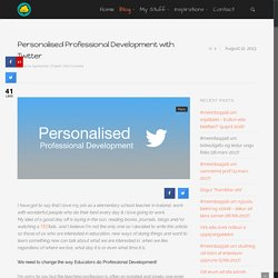 Personalised Professional Development with Twitter