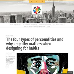 The four types of personalities and why empathy matters when designing for habits