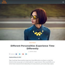 Different Personalities Experience Time Differently