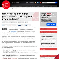 IBM identifies four 'digital personalities' to help segment media audiences