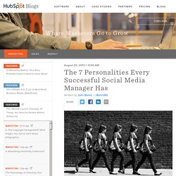 The 7 Personalities Every Successful Social Media Manager Has