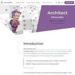 "INTJ Personality (""The Architect"")"