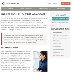 "INFJ Personality (""The Advocate"")"