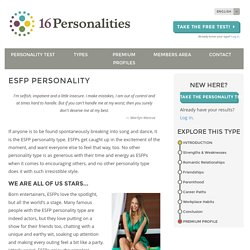 ESFP personality