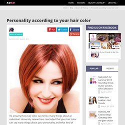Personality according to your hair color