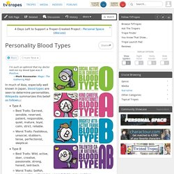 Personality Blood Types
