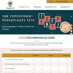 Personality Test of Myers & Briggs' 16 Types