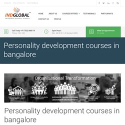 Personality development courses in bangalore