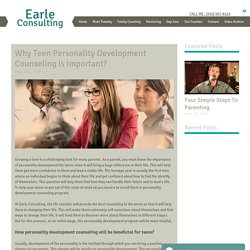 Why Teen Personality Development Counseling Is Important?