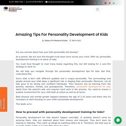 Amazing Tips For Personality Development of Kids