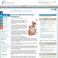Dad's Love Helps Child's Personality Development
