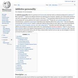 Addictive personality