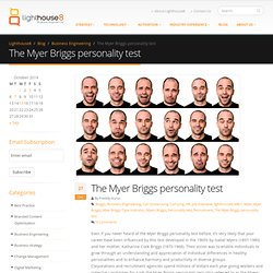 The myer briggs personality test - Lighthouse 8, Business Engineering