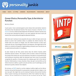 Career Choice, Personality Type, & the Inferior Function