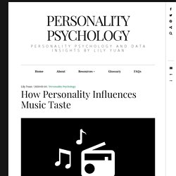 How Personality Influences Music Taste