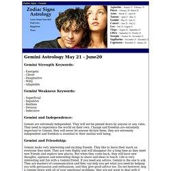 Gemini Sign - Zodiac Sign Gemini Personality Information