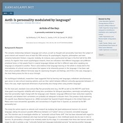 AotD: Is personality modulated by language?