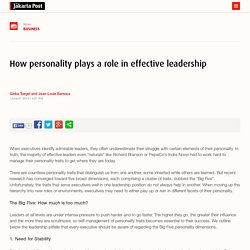 How personality plays a role in effective leadership