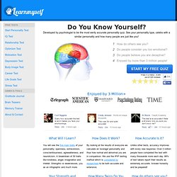 Free Personality Test by LearnMyself