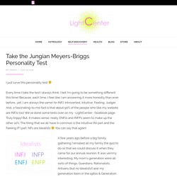 Take the Jungian Meyers-Briggs Personality Test – LightCenter