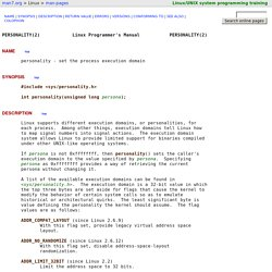 personality(2) - Linux manual page