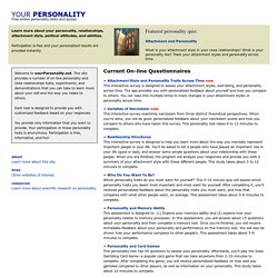 Your Personality | Free Online Personality Tests and Quizzes