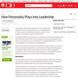 How Personality Plays Into Leadership