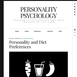 Personality and Diet Preferences
