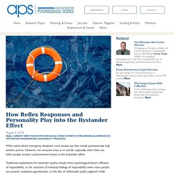How Reflex Responses and Personality Play into the Bystander Effect – Association for Psychological Science – APS