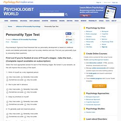Personality Type Test - Influence & Personality Psychology