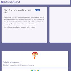 Personality Quiz Site - tests and quizzes