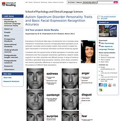 ASD Personality Traits and Basic Facial Expression Recognition Accuracy