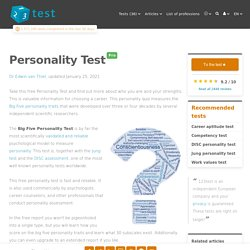 Personality test - reliable, free personality test online - 123test.com