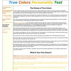 True Colors Personality Research and History