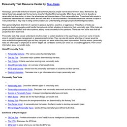 Personality Test Resource Center