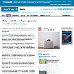 What your email style says about your personality - tech - 27 September 2013