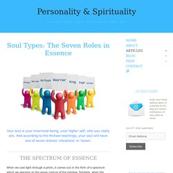 Soul Types: The Seven Roles in Essence - Personality & Spirituality
