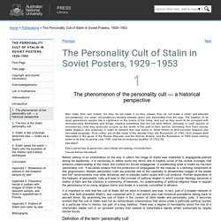 - The Personality Cult of Stalin in Soviet Posters, 1929–1953 - ANU