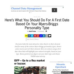 Dating sites based on myers briggs
