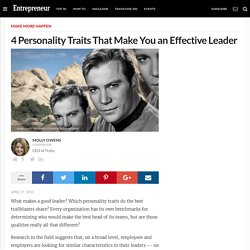 4 Personality Traits That Make You an Effective Leader